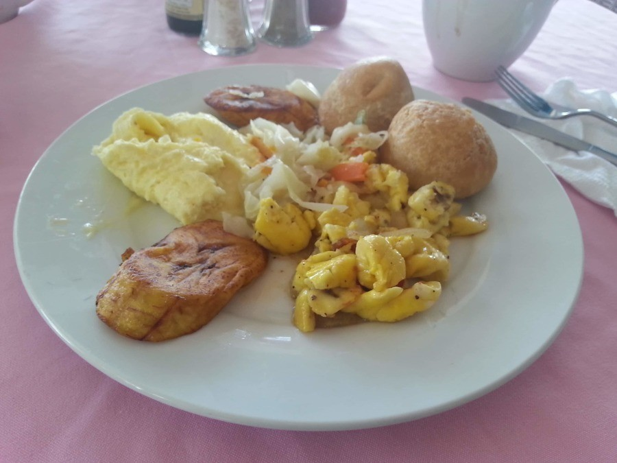 Typical breakfast. Negril Escape, Negril, Jamaica